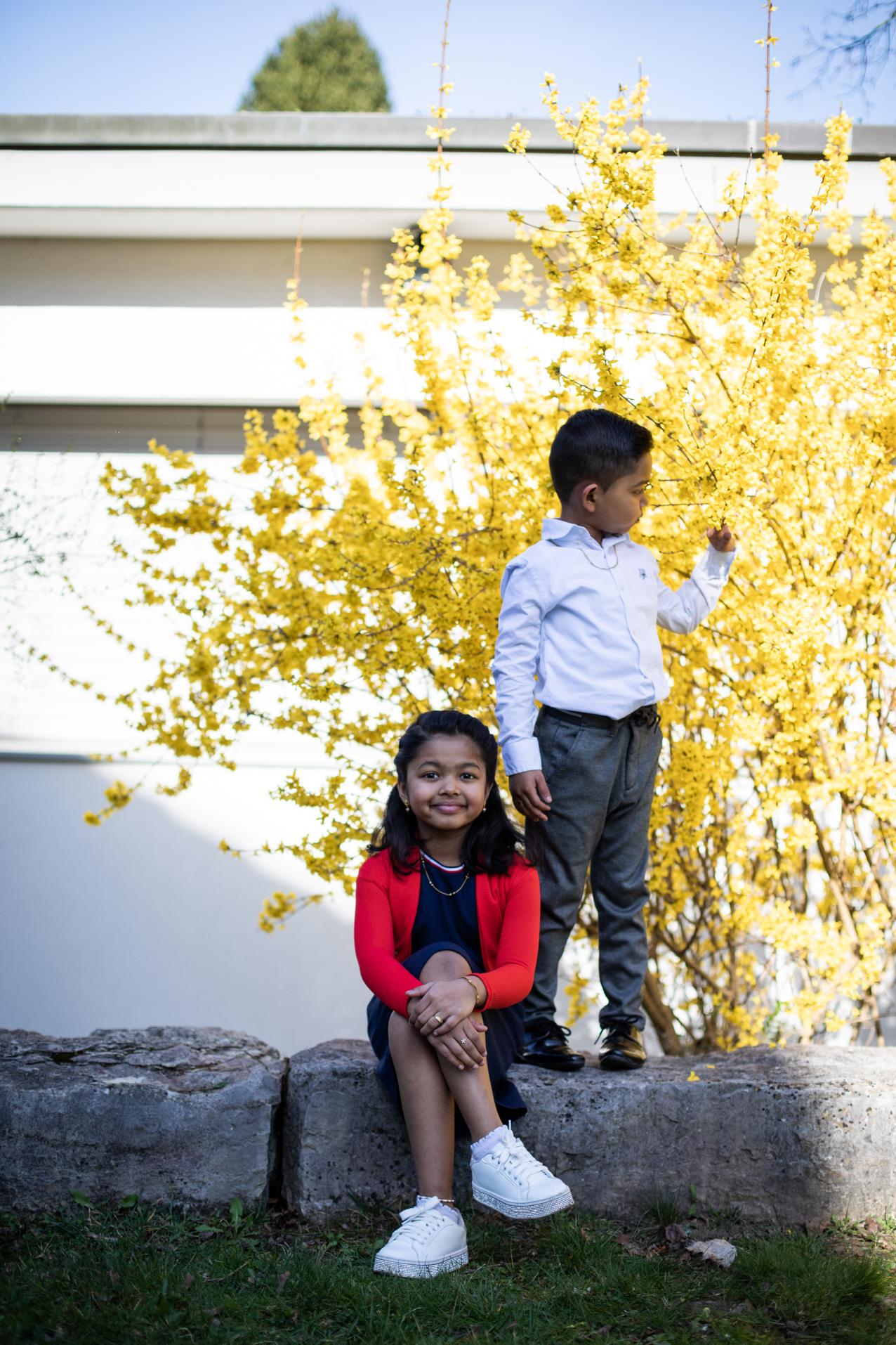Aishu Reshmi und Bryan Ramesh, Siedlung Triemli